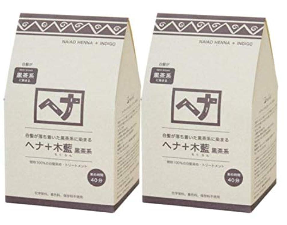 増加する未払い外交問題Naiad(ナイアード) ヘナ+木藍 黒茶系 400g 2個セット