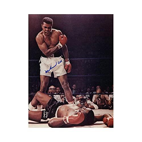 YWCMDH Muhammad Ali-Haj Boxe Boxer Champion Wall Art Poster Stampa su Tela Sport Quadro per Camera da Letto Home Decorazioni Quadri 50x70 cm/Senza Cornice