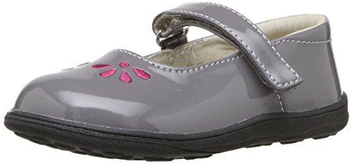 See Kai Run Girls' Ginny Mary Jane Flat, Gray Patent, 4 M US...