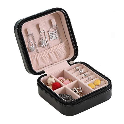 Caja de Joyas 1 Piezas Caja de joyería,Caja de joyería de Piel sintética,Caja de Almacenamiento de joyería para Anillos,Pendientes,Collar,Pulseras,Organizador de Cajas de joyería