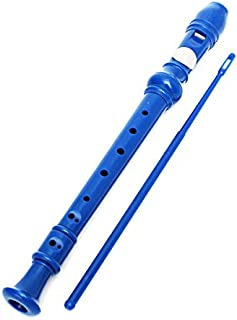 KINGSO 8-Hole Soprano Descant Recorder With Cleaning Rod + Case Bag Music Instrument (Blue)