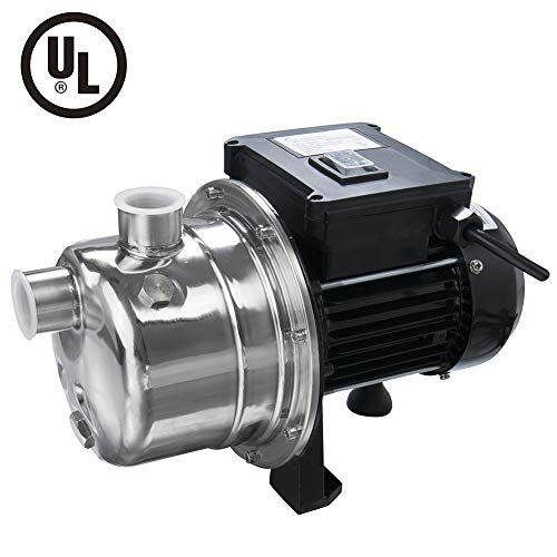 1/2 HP Shallow Well Jet Pump by Lanchez Stainless Steel Water Pump Transfer Removal Irrigation Pumps for Clean Water 960GPH