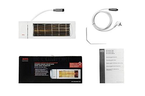 AEG Kurzwellen-Heizstrahler IR Comfort 2024, 2000 W, hocheffiziente Qualitäts-Goldröhre, 229954 - 5