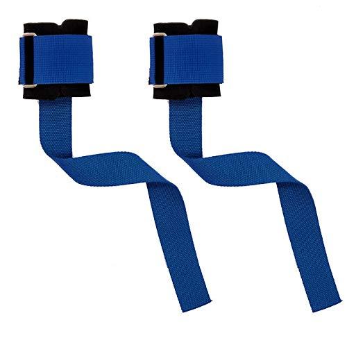 RickyWong Levantamiento de Pesas Correa de Mano Pulsera Agarre Correas de elevación para Gimnasio Equipo de Potencia de Entrenamiento (Color : Blue)