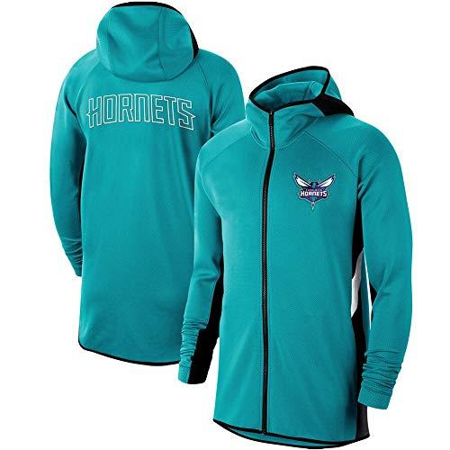 Shirt à Capuche Homme NBA Charlotte Hornets Entraînement Sportif Porter Casual Extérieur en Vrac Hood Costume Zipper A-XXXL