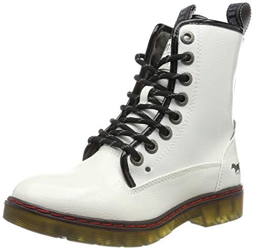 Mustang 1235-503, Rangers Boots Femme, Blanc (weiß 1), 37 EU