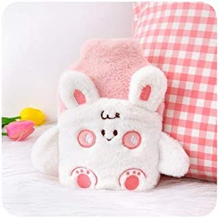 400ml Cute Stress Pain Relief Therapy Hot Water Bottle Bag with Knitted Soft Cozy Cover Winter Warm Heat Reusable Hous. De...
