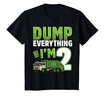 Kids Recycling Trash 2 Year Old Garbage Truck 2nd Birthday Boy T-Shirt