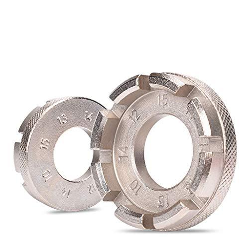 SUNANFBEST Speichenspanner, Nippelspanner Spanschlüssel mit Reifenheber Speichenschlüssel Fahrradwerkzeuge für Speichen Größe 10-15 Fahrrad reparieren - 3