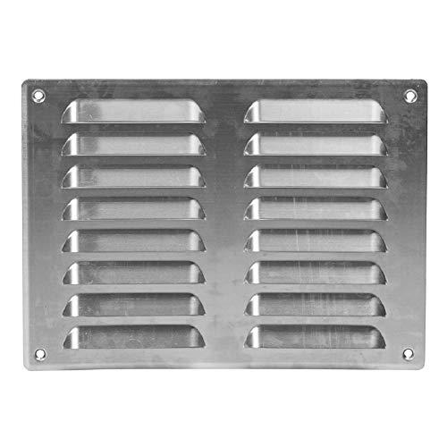 260x190 mm Aluminium Lüftungsgitter Abschlussgitter Insektenschutz Abluft Zuluft Metall Gitter