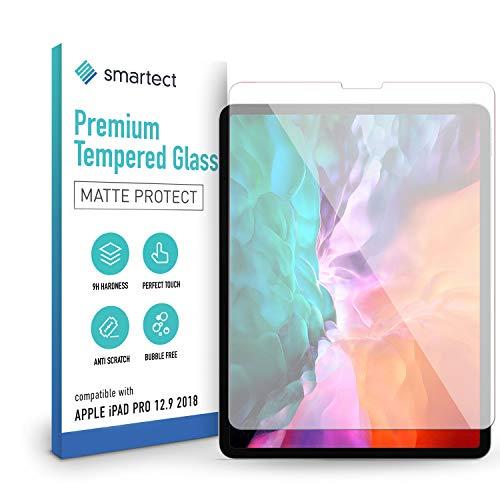 smartect Pellicola Protettiva per Apple iPad Pro 12.9 Zoll (2018/2020 / 2021) [MAT] - 9H Vetro Temperato Proteggi Schermo - Design Ultra Sottile - Applicazione Anti-Bolle - Anti-Impronte