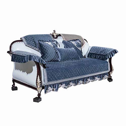 BEYRFCTA Funda de almohada cuadrada suave y decorativa para sofá, cama, coche, dormitorio, no contiene almohada, azul, 5050 cm