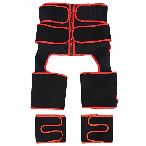 Entrenador de cintura Cinturilla deportiva Moldeador de cuerpo ajustable Recortador de cintura Moldeador de cuerpo adelgazante para bajar de peso, Protección(S/M)