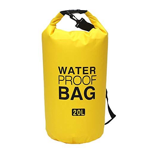 Icegrey Bolsa Estanca Seca Impermeable Flotante para Playa y Deportes al Aire Rafting/Kayak/Canotaje/Senderismo/Esquí/Pesca/Escalada/Camping/Pesca Amarillo 2L