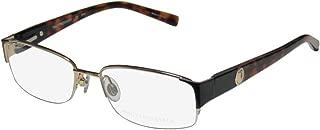 Trussardi 12506 Mens/Womens Designer Half-rim Flexible Hinges Hip & Chic Popular Shape Ophthalmic Eyeglasses/Eyewear