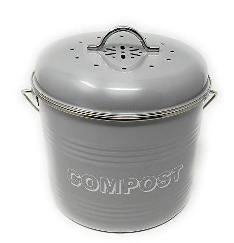 Lesser & Pavey New Sweet Home Kompost, Metall, Grau, 21 x 19 x 20 cm