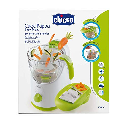 "Chicco 06776 Dampfgarer ""Easy Meal\"", Bpa frei, mehrfarbig"