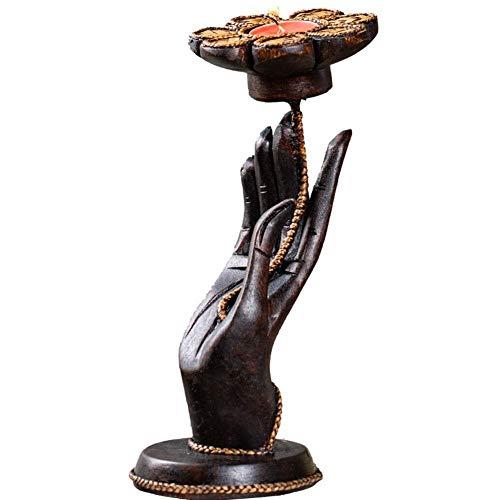 Mini Escultura, Decoración Decoración Escultura Estatua Zen Estatua de Buda Candelabro, Quemador de candelabro perfumado de bergamota Suministros religiosos Decoración del hogar Creyente budista Regal