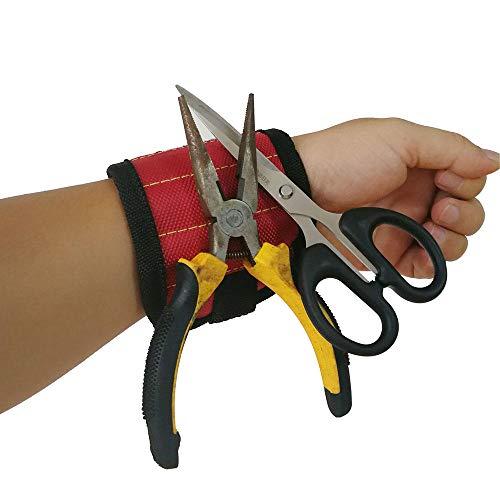 Heißer Verkauf Magnetische Handgelenk Werkzeuggurte Drei Reihen Fünf Reihen Magnet Handgelenkgurte Tragbare Werkzeug Handgelenkgurte Fabrik Direkt, Magnetisches Armband