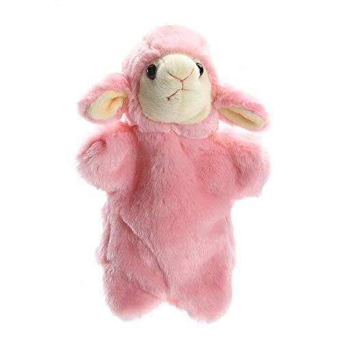 ARTFFEL Animal Preciosa de la Felpa Animal de los niños Las Marionetas de Mano Juguete Blando Infantil ovejas Forma Historia Pretend Jugar con Las muñecas Regalo for los niños Rosa Natural