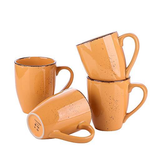 vancasso Serie Navia Tropical Juego de Tazas 4 Piezas, 350 ML Mugs Tazas de Desayuno, Café, Leche
