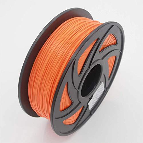 WSHZ Filament pour imprimante 3D PLA, précision des Dimensions +/- 0,03 mm, Orange, Bobine de 1 kg, 1,75 mm, pour la Plupart des imprimantes 3D,8volumes