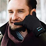 Bearmax Bluetooth Gloves with Built in Mic and Speaker Wireless Bluetooth Gloves with Built-in Speaker and Mic Fashionable Warm Knit Gloves Let You Talk Through Your Hand Running Skiing Dog Walking