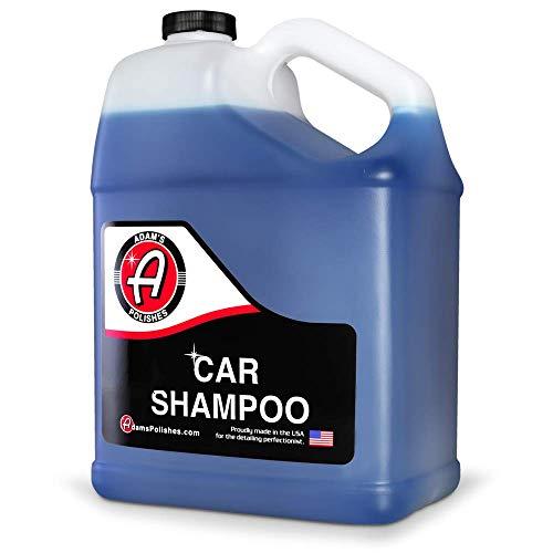 Adam's Car Wash Shampoo (Gallon) - pH Best Car Wash Soap For Snow Foam Cannon, Foam Gun, Car Soap Wash For Pressure Washer & 5 Gallon Wash Bucket Kit | Powerful Safe Spot Free Car Cleaning Liquid Auto Detergent | Safe On Car Wax & Ceramic Coating