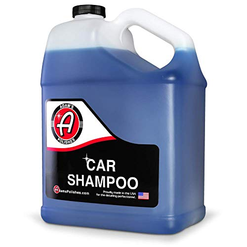 Adam's Car Shampoo Gallon - pH Best Car Wash Soap For Snow Foam Cannon, Foam Gun, Car Soap Wash For Pressure Washer & 5 Gallon Wash Bucket Kit | Powerful Safe Spot Free Car Cleaning Liquid Auto Detergent | Safe On Car Wax & Ceramic Coating