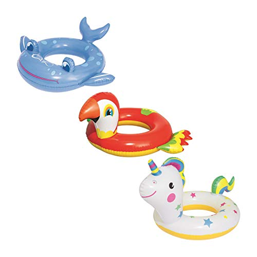 BESTWAY 36128 Animal Shaped, Schwimmring, Sortiert, Multicolor