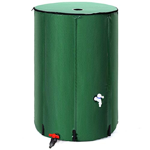 Goflame Rain Barrel Water Collector Portable Foldable Collapsible Tank