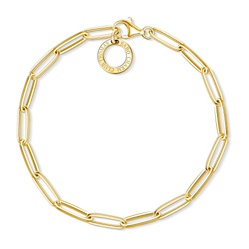 Thomas Sabo Damen-Armband Charm Club 925 Sterling Silber gelbgold vergoldet Länge 17 cm X0253-413-39-L17