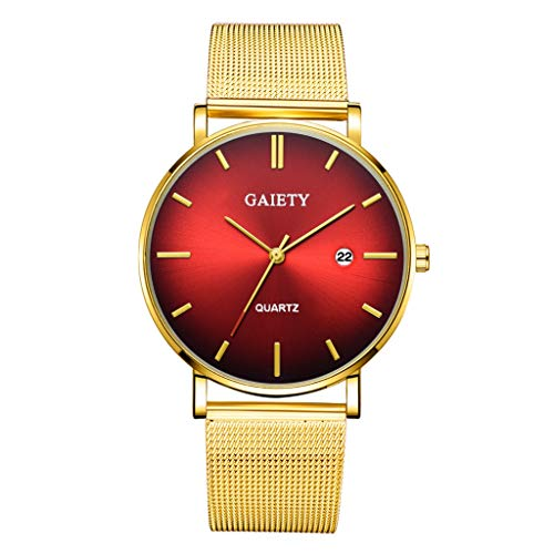 Quartz Uhren für Herren, Skxinn Herrenuhren,Männer Business Fashion Modisch Analoge Armbanduhren mit Edelstahl Mesh-Gürtelband, Ausverkauf(A)