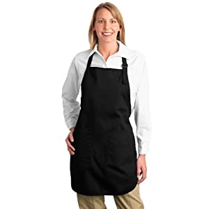 Port Authority novelty-and-special-use Full Length Apron with OSFA Black