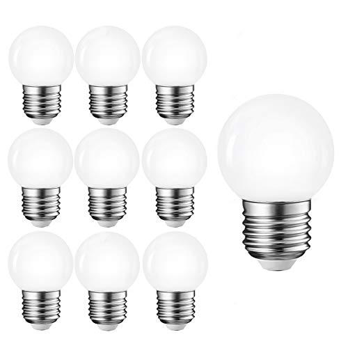 10per-pack LED E27 G45 Glühbirne 1.5W Mini Globe LED-Lampe Nicht Dimmbar Ersetz 10W Birne (Weiß)