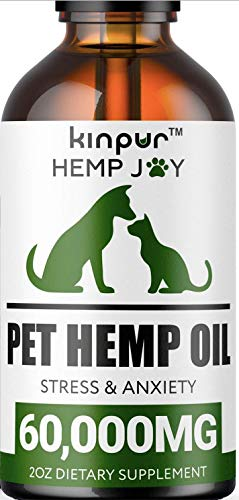 Natural Hemp Oil for Dogs & Cats - 60 000mg - Pet Hemp Oil -...