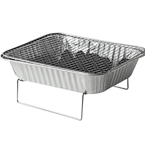 41+2PYkxMBL. SL500  - Mothcattl Barbecue-Ofen, Einweg-Grill, tragbar, für Zuhause, Outdoor, Picknick, Grill mit Holzkohle silber