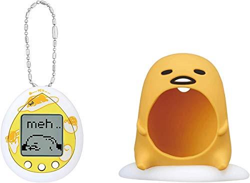 BANDAI 42827 Tamagotchi Virtual Pet – Gudetama – weiß mit Tasche – elektronische Haustiere