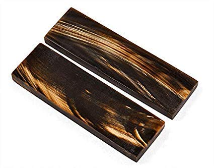 Buddha4all Büffelhorn, Goldstreifen, Griffe, Material für Messer