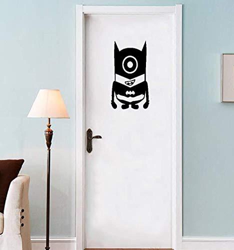 Ich - Einfach Unverbesserlich -Stuart Minion Despicable Me Batman- Raumdekoration Kinder Schlafzimmer Tür Aufkleber Aufkleber 25CM Hoch