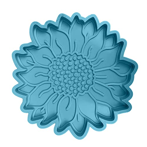 non-brand DIY Flor de Sol Posavasos Molde Resina epoxi Herramienta de fundición tapete para Hacer Manualidades, Material Duradero de Alta fiabilidad