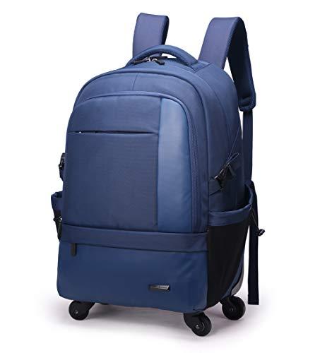 AHWZ 50L Trolley Bag, Viaggio Business Trolley Bag Uomo E Donna Zaino Multifunzione Grande capacità con 4 Colpi,Blue