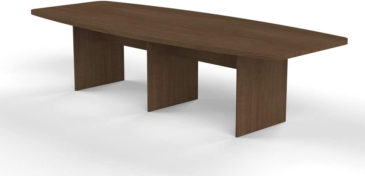 120-Inch Boat Shaped Conference Table - Brown : Office Products