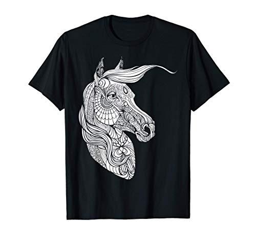 Lindo caballo para pintar y colorear para niños Camiseta