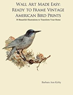 Wall Art Made Easy: Ready to Frame Vintage American Bird Prints: 30 Beautiful Illustrations to Transform Your Home (American Birds)
