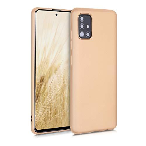 kwmobile Hülle kompatibel mit Samsung Galaxy A51 - Handy Hülle Metallic Gold