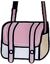 Xugq66 3D Style 2D Drawing Cartoon Bag Comic 3D Messenger Bag