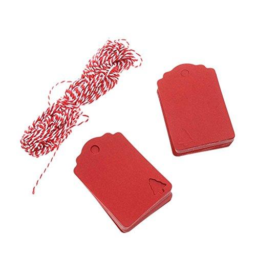 ACMEDE 100pcs /Étiquettes En Papier Kraft Personnalis/ées Pour D/écoration Cadeau Anniversaire No/ël Mariage Gift Prix Tags Avec Cordon Chanvre 10m