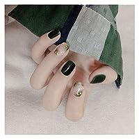 DINGGUANGHE 24ピースの短い正方形のパッチのファッションピンクの紫色の輝く誤った釘の装飾花嫁の人工的な爪 (Color : Style5)