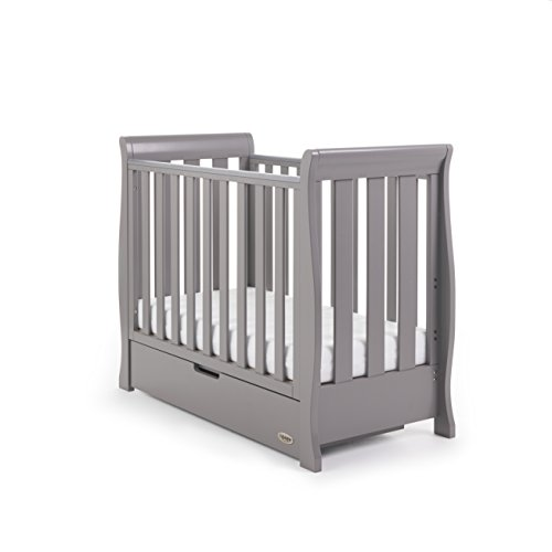 Obaby Stamford Sleigh Space Saver Cot - Taupe Grey